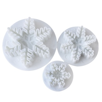 3 PCS 3 Sizes Snowflake Style Fondant Cake Cutters Mold SugarcraftHomemade Cake Cookie Decorating Utensils Tools - intl