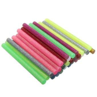 30 Pcs 7mm Multicolor Glitter Hot Melt Glue Sticks Adhesive untuk Kerajinan Seni-Intl