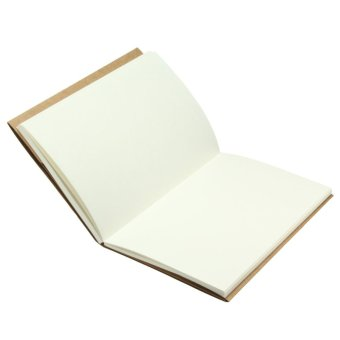 32K White inside page Vintage Back Blank Kraft Paper Sketchbook Journal Diary Sketching Note Book - intl