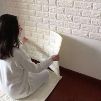 3D Brick Pattern Wallpaper Bedroom Living Room Modern Wall Background TV Decor - intl