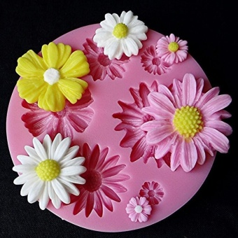 3D Bunga Cetakan Silikon Cetakan Kue Fondant Dibetulkan SugarcraftAlat Dekorasi Kue