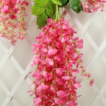 3D High Artificial Flower 12pcs Wisteria 75cm Sumilated Flower BestHome Decoration Flower for Garden Shop School - intl