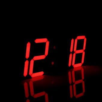 3D Besar Remote LED Jam Dinding Digital Watch Countdown Termometer Merah  -Intl e8603d0c14