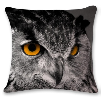 3D Orangutan Owl Sofa Bed Home Decoration Festival Pillow Case Cushion Cover - intl