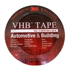 3M VHB Double Tape Automotive 4900 tebal 1.1 mm size 24mm x 4.5m - 1 Pcs - Merah