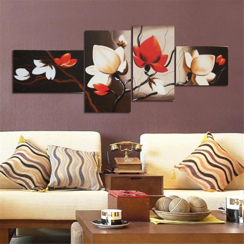4buah Lot Lukisan Minyak Seni Lukis Kanvas Lanskap Abstrak Hiasan Source · Modern Dekorasi Rumah Dinding