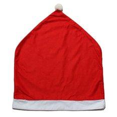 4 Pcs Natal Santa Red Chair Meliputi Dekorasi Dinner Chair Hat Xmas Caps