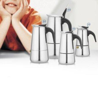 4 Ukuran Stainless Steel Moka Coffee Maker MochaStovetop Espresso Pot Percolator Tools-300ML-Intl