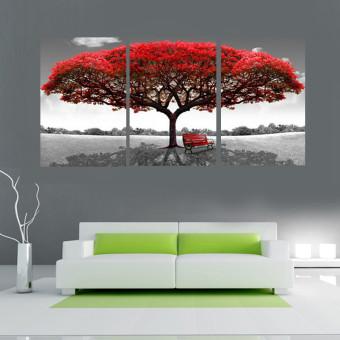 harga 40 cm x 60 cm Merah pohon modern lukisan cat minyak di atas kanvasabstrak Seni tanpa bingkai dekorasi Dinding Rumah Lazada.co.id