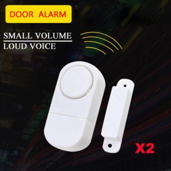 433 MHZ Nirkabel Alarm Pintu Jendela Sensor Sistem Keamanan Rumah Anti Maling Masuk Memanggil 2 pcs