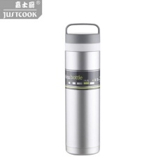 480 Ml Carrefour Vacuum Insulated Cup Stainless Steel Portable Air Hangat Cup Abu-abu Muda-Internasional