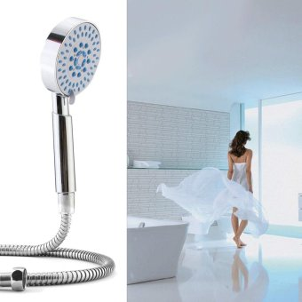 5 Setting Water Saving Multi-Function Bathroom Hand Held Shower Head Chrome - intl