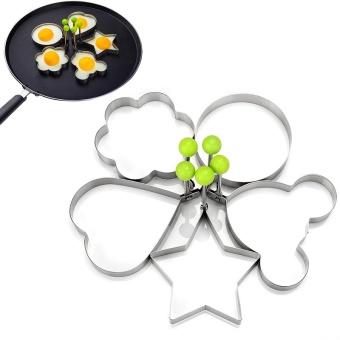 5 Pcs/set Stainless Steel Cute Berbentuk Cetakan Telur Goreng Pancake Cincin Cetakan Dapur Alat