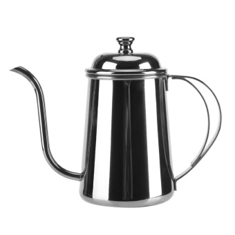 650ML Stainless Steel Gooseneck Spout Kettle Pour Over Coffee Tea Home Brewing Drip Pot (Silver) - intl