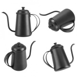 ... 650ML Stainless Steel Gooseneck Spout Kettle Pour Over Coffee Tea Home Brewing Drip Pot Silver -
