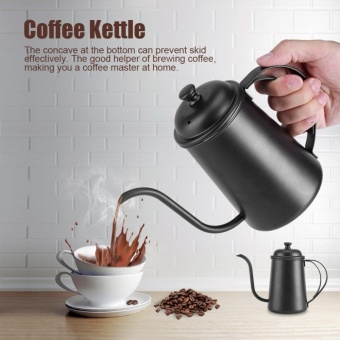 650 Ml Stainless Steel Gooseneck Moncong Ketel Pour Over Coffee Tea Home Brewing Drip Pot (