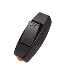 6A 250 V Inline ON/OFF Lampu Meja Desk Light Cord Control Switch Hitam-Intl