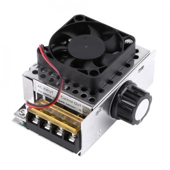 AC 220 V 4000 W SCR Regulator Tegangan Listrik Dimmer Suhu Motor Speed Controller dengan Fan
