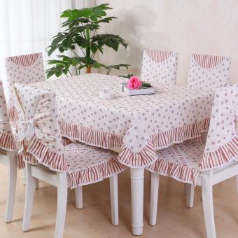 Air Lotus pastoral bantal kain pelapis kursi makan set taplak meja meja kopi kain