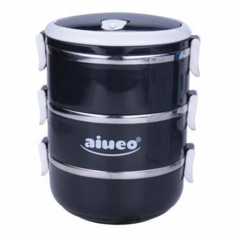 AIUEO Eco Lunch Box Stainless Steel Rantang 3 Susun Glossy ...