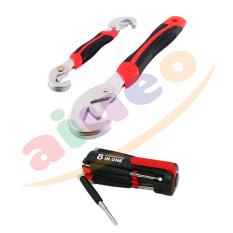 AIUEO Snap n Grip - Kunci Inggris Serbaguna Bundling Obeng 8 in 1 dengan LED