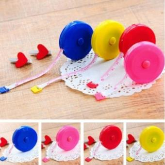 ALFATI_236 - Meteran Gulung Mini Candy Perut Langsing Baju & Bahan 150 .