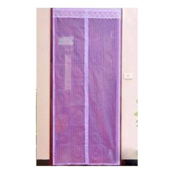 Allunique Tirai Magnet Anti Nyamuk Polos - Ungu