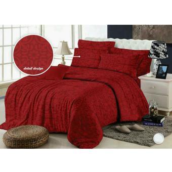 Alona Ellenov Bedcover SET Motif Emboss Merah 160x200x25cm. >>>>