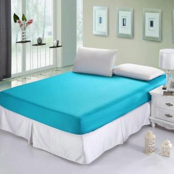 Alona Ellenov Sprei Waterproof Anti Air Warna Biru Muda Ukuran 160x 200 x 20 cm