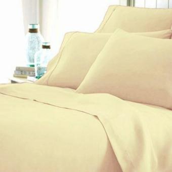 Alona Ellenov Sprei With Bed Cover Katun Jepang Super Polos PlainCream Ivory - Cream · >>>>