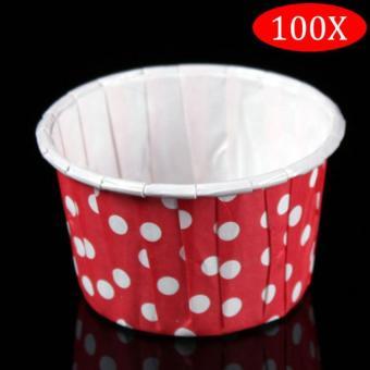 Kitchen Food Chopper Spiral Fruit Cutter Mixer Salad(Red) - intl. Amart 100Pcs Round Shape Paper Muffin Cases Cake Cupcake Bakeware Maker Mold (Red Dot)