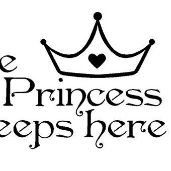 Amart manis stiker dinding Princess dekorasi kamar tidur di stikeryang bisa dilepas - Internasional - 4