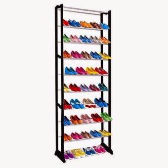 ... Amazing Shoe Rack - Rak sepatu atau sendal 10 tingkat Rak Sepatu Tinggi Rak Sepatu atau