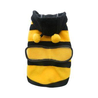 Anak anjing kucing Pet Bee Baju Kostum jaket mantel burung gagak kelabu pakaian 5 ukuran 14 - 3