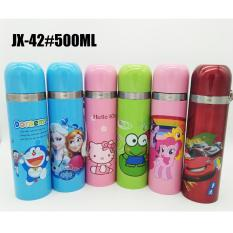 ANGEL Botol Minum Termos Air Stainless Steel Karakter JX42 500ml – Multicolor
