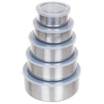 Harga ANGEL Protect Fresh Box - Rantang Stainless Steel Wadah Penyimpanan Makanan 5 Susun Dengan Tutup Plastik
