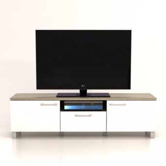 Anya-Living Rak TV Pico 3 CF Sonoma Brown - Putih