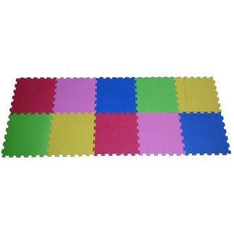 Ari Jaya Karpet Puzzle Polos - Multicolor