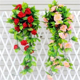 Buatan Sutra Mawarbunga Ivy Vine Gantung Garland Pernikahan Rumah  Dekorasi-Intl dcdd3e3692