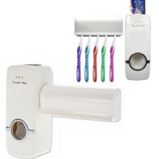 Automatic Toothpaste Dispenser with Toothbrush Holder Tempat Odol Dan Sikat Gigi