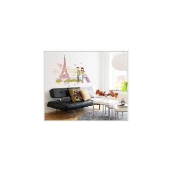 AY7201: Wallsticker/Wall Stiker Transparan 50X70-EIFFEL N COUPLE
