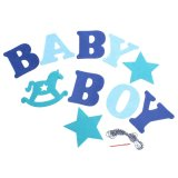 ... Baby Shower Girl Boy Surat Ulang Tahun Party Banner Bunting Flag Hanging Decor-Intl ...