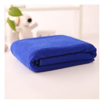 Bath Towel Dark Blue Handuk Mandi Biru Tua Hotel Ukuran 70 x 140 .