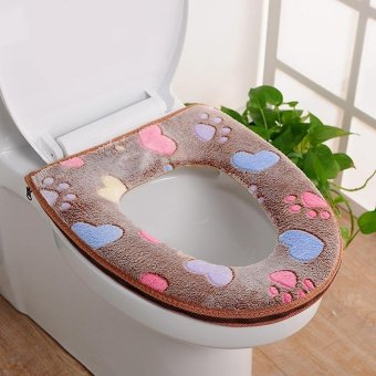 Cat toilet seat cover and rug