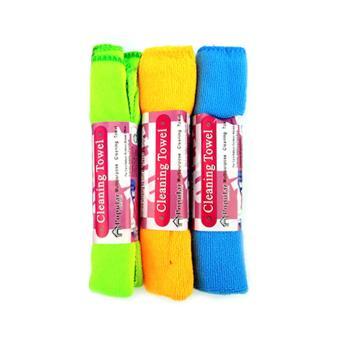 Beau Kain / Lap / Serbet Pembersih Serbaguna Microfiber Isi 3 Pcs -Multicolor
