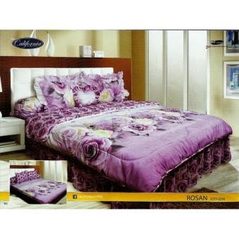 Bed Cover California Ukuran King Set motif Rosan