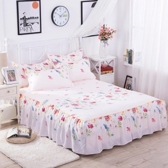 Bedding Sheet Bed Skirts Bedspreads Mattress Protective Cover Antislip Bed Skirt Fitted Bedsheet Bedspread Home Textiles 180*200CM -intl