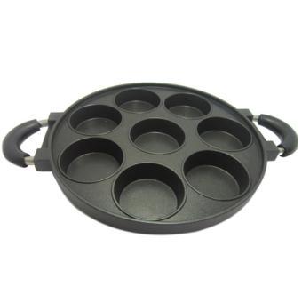 Best Cetakan Pancake/Cetakan Kue Lumpur/Martabak Mini - 8 Lubang(Hitam)