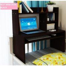 Best Mini Desk Meja Laptop Lesehan, Belajar dan Rak Multifungsi - Hitam