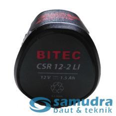 BITEC Baterai 12 V CSR 12-2 Li Battery 12V for Bor Cordless Drill